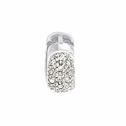Single White Diamond Huggie