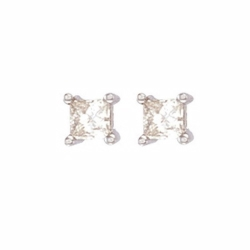 0.75Ct Princess Cut Diamond Studs