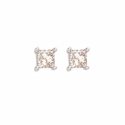 0.50Ct Princess Cut Diamond Studs
