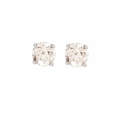 1Ct Diamond Studs (18ct White)