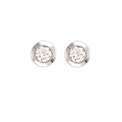 0.40Ct Diamond Rubover Studs With G