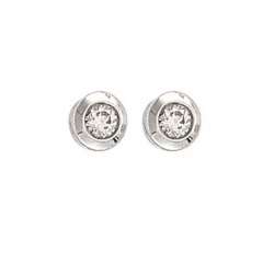 0.30Ct Diamond Rubover Studs With G