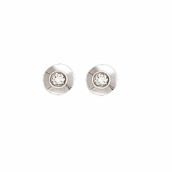 0.10Ct Diamond Rubover Studs With G