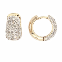 Diamond Earrings Yellow Gold
