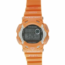 Orange With  Black Buttons Km Watch