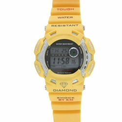 Yellow With  Black Buttons Km Watch
