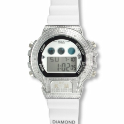 Kingmaster Diamond Shock White Face & Band