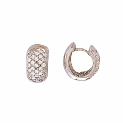 9ct White Gold CZ Huggie Earrings