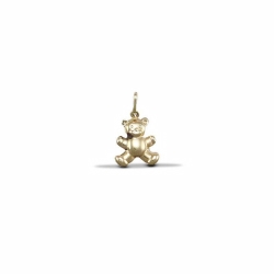 9ct Yellow Gold Teddy Bear Hollow Charm Pendant
