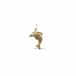 9ct Yellow Gold Dolphin Hollow Charm Pendant
