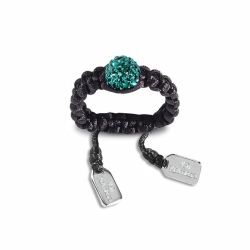 Kamara 8mm Dark Green CrystaLRing