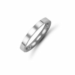 2mm Flat Court Wedding Ring 18ct White