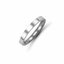 2mm Flat Court Wedding Ring Platinum