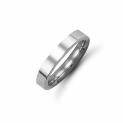 3mm Flat Court Wedding Ring Platinum
