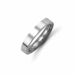 3mm Flat Court Wedding  Ring Palladium