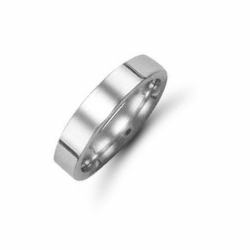 4mm Flat Court Wedding Ring Platinum