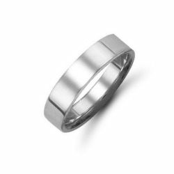 5mm Flat Court Wedding Ring Palladium