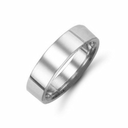 6mm Flat Court Wedding Ring Palladium