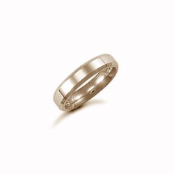 4mm Plain Bevel Wedding Ring 9ct Yellow