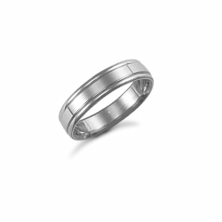 5mm Fancy Wedding Ring Palladium