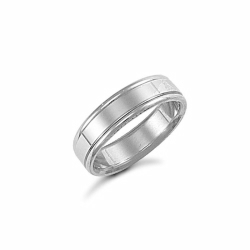 6mm Fancy Wedding Ring Palladium