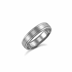 4mm Satin Fancy Wedding Ring Palladium