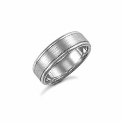 6mm Satin Fancy Wedding Ring Palladium
