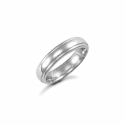 4mm Fancy Court Wedding Ring Palladium