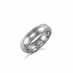 5mm Court Wedding Ring Palladium