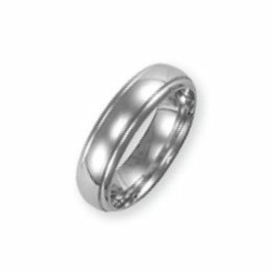 6mm Fancy Court Wedding Ring Palladium