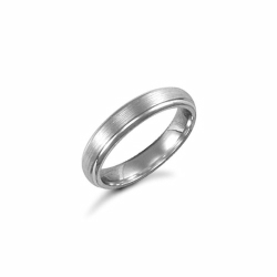 4mm Satin Court Wedding Ring Palladium