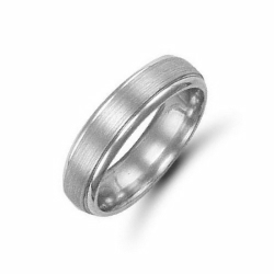 5mm Satin Court Wedding Ring Palladium
