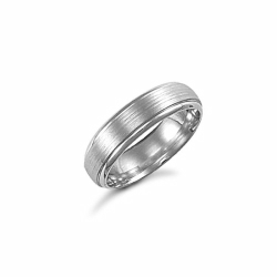 6mm Satin Court Wedding Ring Palladium