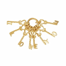 9ct Yellow Gold 'I Love You' Keys Charm Pendant