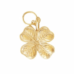 9ct Yellow Gold Four Leaf Clover Pendant