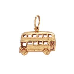 9ct Yellow Gold Double Decker Bus Pendant