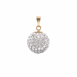 11.5mm Special Cz Ball Pendant