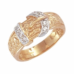 Cz Buckle Ring (Croc Style)