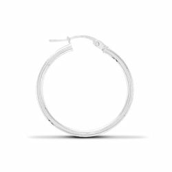 30mm Silver Plain Hoop Earrings
