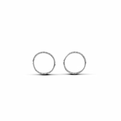 Sterling Silver 12mm Diamond Cut Hinged Sleeper Earrings