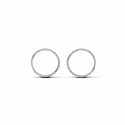 Sterling Silver 14mm Diamond Cut Hinged Sleeper Earrings