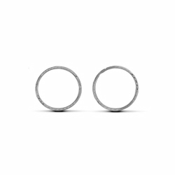 Sterling Silver 16mm Diamond Cut Hinged Sleeper Earrings