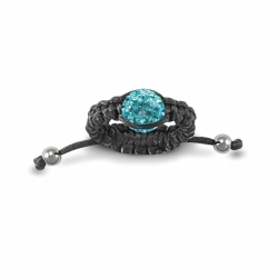 8mm Light Blue Crystal Ball Adjustable Ring