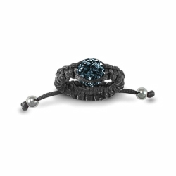 8mm Navy Blue Crystal Ball Adjustable Ring