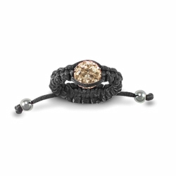 8mm Champagne Crystal Ball Adjustable Ring