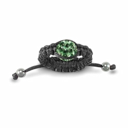 8mm Green Crystal Ball Adjustable Ring