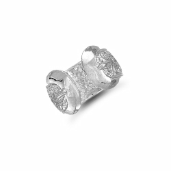 Double Buckle Ring Silver