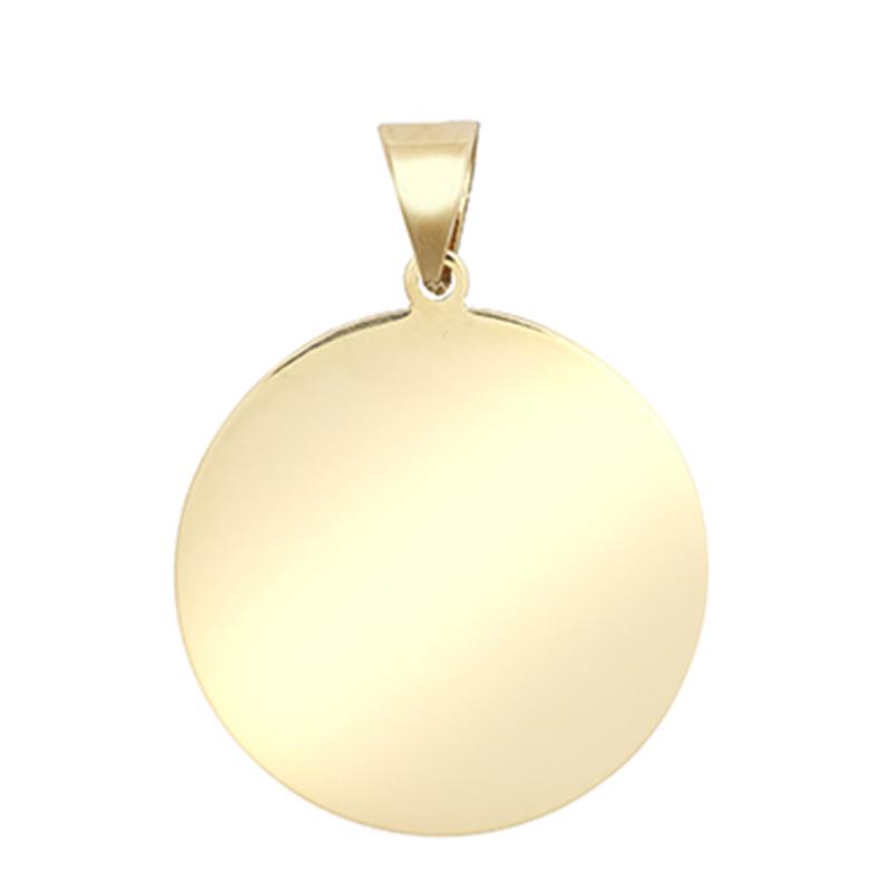 9ct YG Plain Polished Medallion