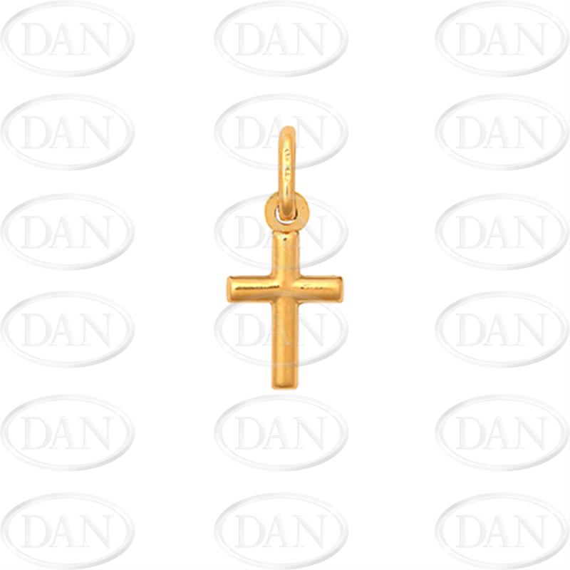 9ct Yellow Gold Plain Hollow Cross Pendant
