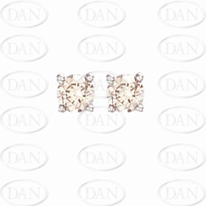 0.50Ct Hsi Diamond Studs 18ct White